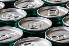 A group of cans background Stock Photos