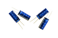 Group of capacitors. Stock Photos