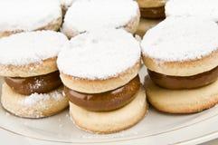 Group of caramel filled cookies Stock Photos