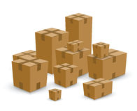 Group of card board boxes Stock Image