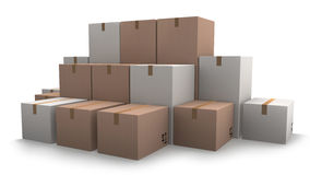 Group of cardboard boxes. Royalty Free Stock Photography
