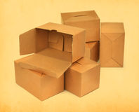 Group of cardboard boxes Stock Photos