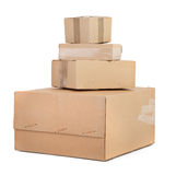 Group of cardboard boxes Royalty Free Stock Photography