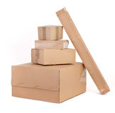 Group of cardboard boxes Stock Image