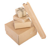 Group of cardboard boxes stock photography