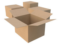 Group of cardboard boxes Royalty Free Stock Image