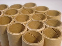 Group of cardboard tubes Royalty Free Stock Photo