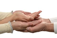 Group of care hands Royalty Free Stock Image
