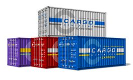 Group of cargo containers Stock Photos