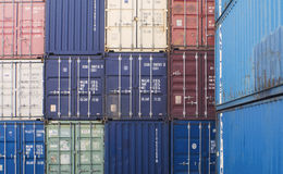 Group Cargo Containers Stock Photo