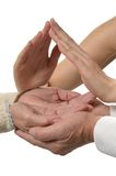 Group of caring hands Stock Image