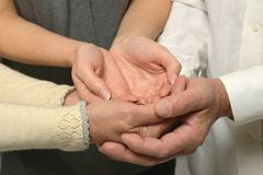 Group of caring hands Royalty Free Stock Photos