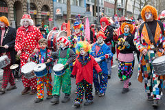 Group of carnival people Stock Photos