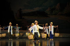 A group carry a load workers- Jiangxi opera a steelyard Royalty Free Stock Photo