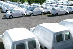 Group of cars at la Reunion island. France Royalty Free Stock Photos