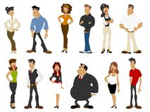 Business people. Group of cartoon business people Royalty Free Stock Images