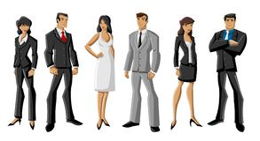 Business people. Group of cartoon business people Stock Image