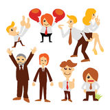 Group cartoon business people Royalty Free Stock Photos