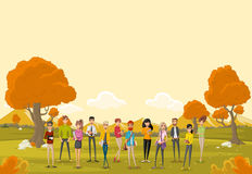 Group of cartoon business people Royalty Free Stock Photo