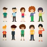 Group cartoon people. Available in high-resolution and several sizes to fit the needs of your project Stock Image