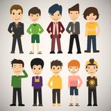 Group cartoon people Stock Images