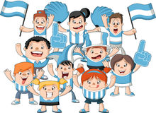 Group of cartoon sport fans Royalty Free Stock Photos