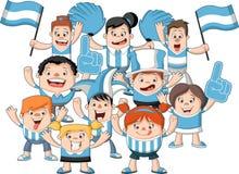 Group of cartoon sport fans Royalty Free Stock Photos