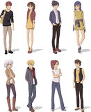Group of cartoon young people. Manga anime teenagers Royalty Free Stock Photography