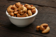 Group of cashew nuts in a bowl Stock Images