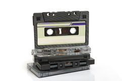 Group of cassette tapes Royalty Free Stock Photos