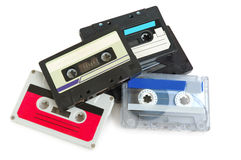 Group of cassette tapes Royalty Free Stock Image