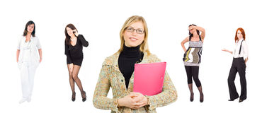 Group of casual and formal dressed business women Stock Image
