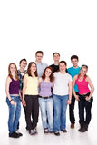 Group of casual happy friends Stock Photo