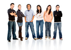 Group of casual happy friends Royalty Free Stock Images