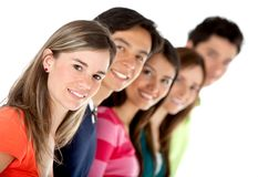Group of casual people Royalty Free Stock Image