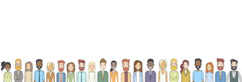 Group of Casual People Big Crowd Diverse Ethnic Horizontal Banner Royalty Free Stock Photo