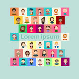Group Casual People Big Crowd Diverse Ethnic Mix Race Banner Royalty Free Stock Image