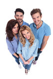Group of casual people smiling to the camera Stock Photo