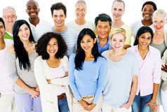 Group of Casual People Social Gathering Concept Royalty Free Stock Photo