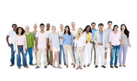 Group of Casual People Standing Together Stock Photos
