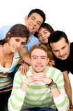 Group of casual students Stock Photography