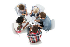 Group of casual young people in meeting Stock Photography