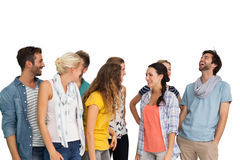 Group of casually dressed happy young people Stock Photos