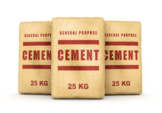 Group of cement bags Stock Photos