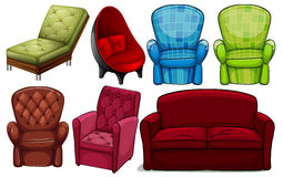 Group of chair furnitures Royalty Free Stock Photography