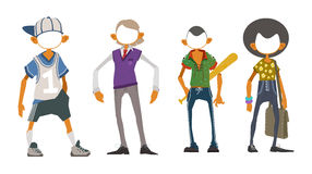 Group of characters Royalty Free Stock Images