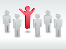 A group of characters standing one by one Royalty Free Stock Photos
