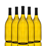 Group of Chardonnay Wine Bottles Stock Images