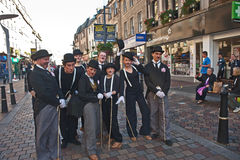 Group of Charlie Chaplains. At the Inverness Street Festival held on 18th to 20th October 2014 Royalty Free Stock Images