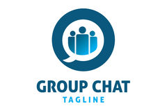 Group chat logo Royalty Free Stock Images